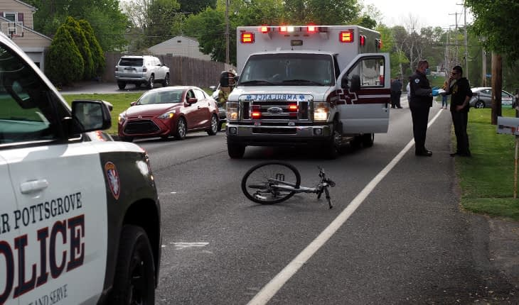 Man Injured in Bicycle-Car Accident Thursday