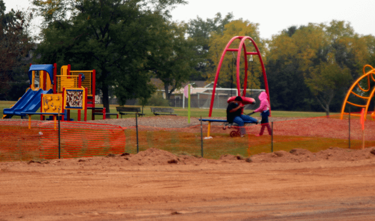 Drainage, Lot Work Under Way at Richards Park