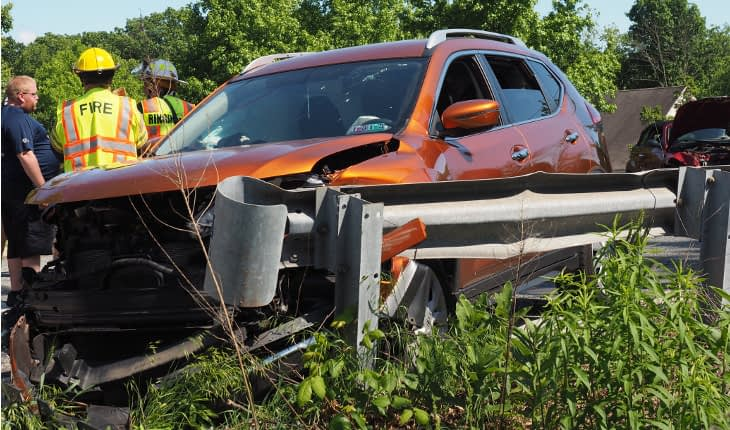 One Injured Monday in Township 2-Car Accident