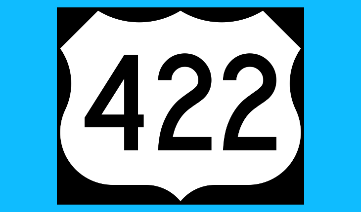 422 Lane Closures Next Week for Patching, Painting, Repair