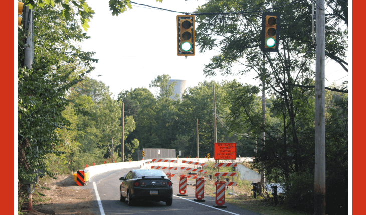 Temporary Traffic Signal Installed on South Park Road