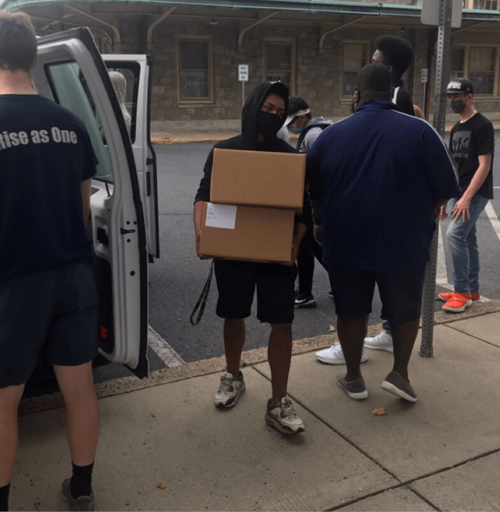 Pottstown Athletes Lend Strength to Voter Drive