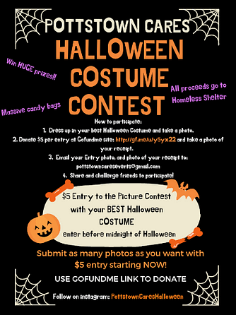 Pottstown CARES Costume Party Fund-Raising for Shelter