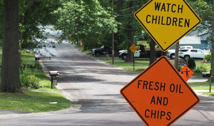 Township Wraps Up Street Paving, Coating Chores