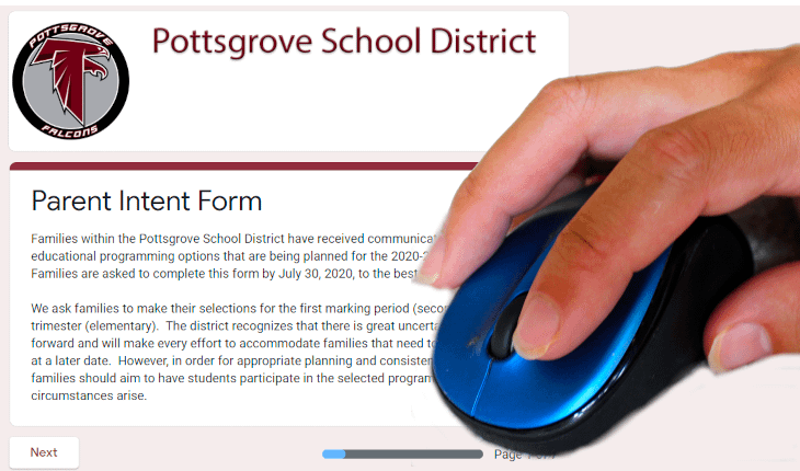 'Parent Intent Form' Opens to Collect Pottsgrove Choices