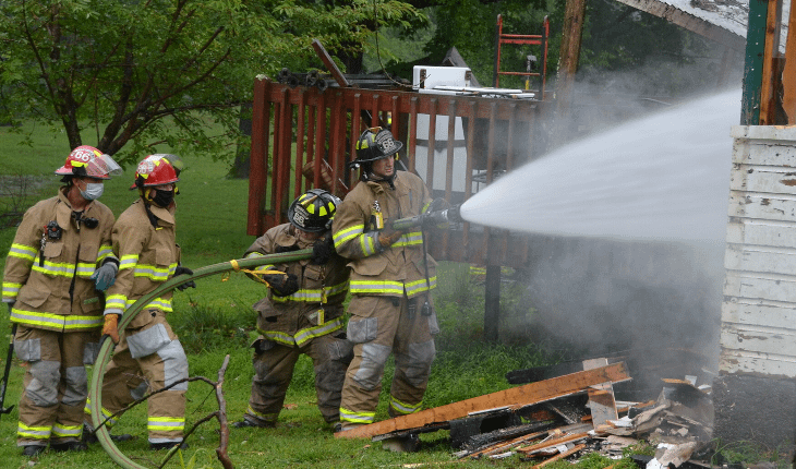 Three Companies Called to Abandoned Structure Fire