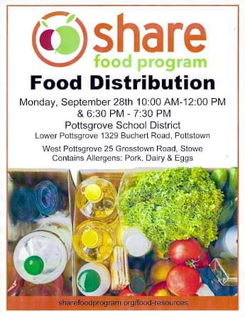 Share Food Program Joins Pottsgrove Meals Distribution Monday